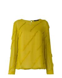 Blusa de manga larga amarilla de Odeeh