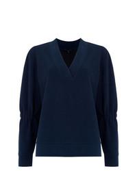 Blusa de manga larga azul marino