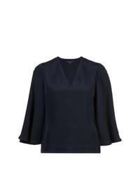 Blusa de manga larga azul marino de Derek Lam
