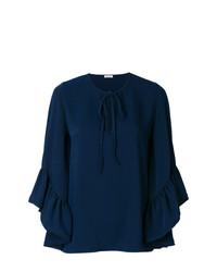 Blusa de manga larga azul marino de P.A.R.O.S.H.
