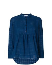 Blusa de manga larga azul marino de Peter Jensen