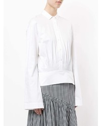 Blusa de manga larga blanca de Teija
