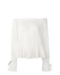 Blusa de manga larga blanca de Etro