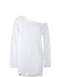 Blusa de manga larga blanca de Philipp Plein