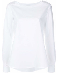 Blusa de manga larga blanca de Roberto Collina