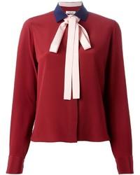 Blusa de manga larga burdeos de Valentino