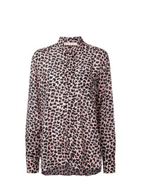 Blusa de manga larga con estampado geométrico rosada de Marni