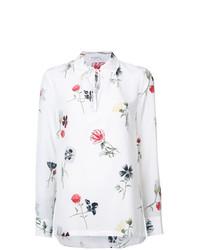 Blusa de manga larga con print de flores blanca de Equipment