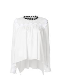 Blusa de manga larga con print de flores blanca de Sonia Rykiel