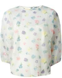 Blusa de manga larga con print de flores blanca de Vilshenko