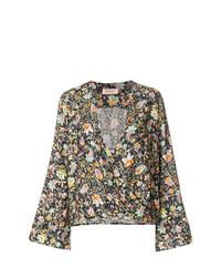 Blusa de manga larga con print de flores en multicolor de Black Coral