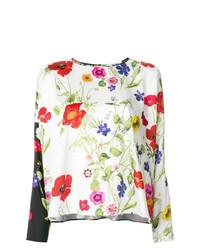 Blusa de manga larga con print de flores en multicolor de Blugirl