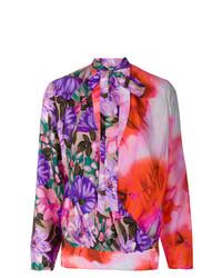Blusa de manga larga con print de flores en multicolor de MSGM