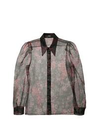 Blusa de manga larga con print de flores negra de Jill Stuart