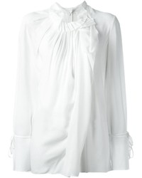 Blusa de manga larga con volante blanca de 3.1 Phillip Lim