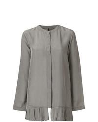 Blusa de manga larga de cuadro vichy gris de Sara Lanzi