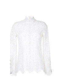 Blusa de manga larga de encaje blanca de Macgraw