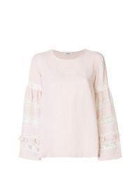 Blusa de manga larga de encaje rosada de P.A.R.O.S.H.