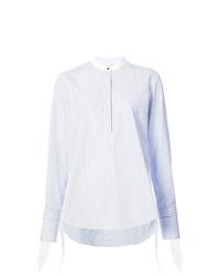 Blusa de manga larga de rayas verticales celeste de Rag & Bone