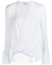 Blusa de manga larga de seda blanca de 3.1 Phillip Lim