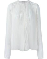 Blusa de Manga Larga de Seda Blanca de Nina Ricci