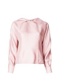 Blusa de manga larga de seda rosada de Marni