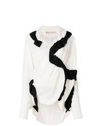 Blusa de manga larga en blanco y negro de Marni