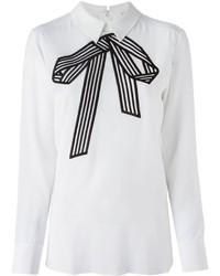 Blusa de manga larga en blanco y negro de Stella McCartney
