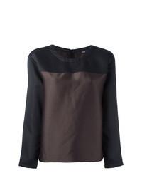 Blusa de manga larga en marrón oscuro