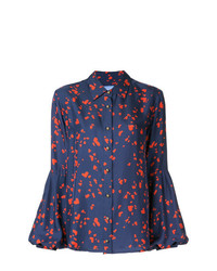 Blusa de manga larga estampada azul marino de Macgraw