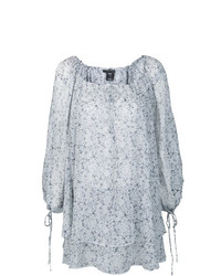 Blusa de manga larga estampada gris de Thomas Wylde