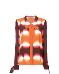 Blusa de manga larga estampada naranja de Marco De Vincenzo