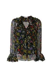 Blusa de manga larga estampada negra de See by Chloe