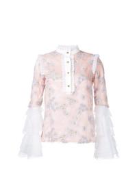 Blusa de manga larga estampada rosada de Macgraw