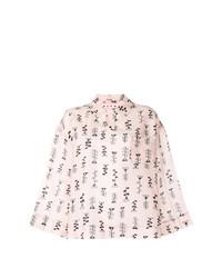 Blusa de manga larga estampada rosada de Marni