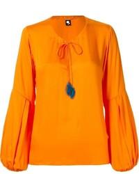 Blusa de manga larga naranja