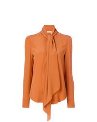 Blusa de manga larga naranja de Chloé