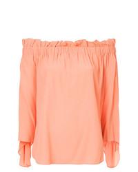 Blusa de manga larga naranja de Erika Cavallini