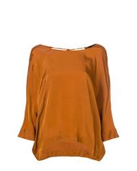 Blusa de manga larga naranja de Roberto Collina
