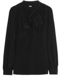 Blusa de manga larga negra original 10018967