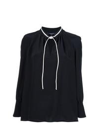 Blusa de manga larga negra de Derek Lam