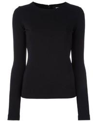 Blusa de manga larga negra de Dsquared2
