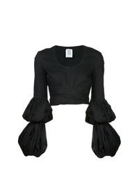 Blusa de manga larga negra de Rosie Assoulin
