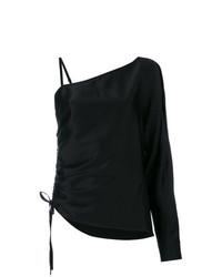 Blusa de manga larga negra de T by Alexander Wang