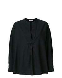 Blusa de manga larga negra de Vince