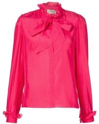 Blusa de manga larga rosa de Lanvin