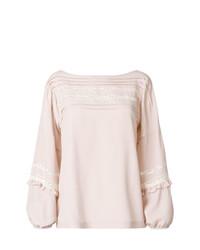 Blusa de manga larga rosada de P.A.R.O.S.H.
