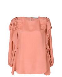Blusa de manga larga rosada de See by Chloe