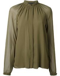 Blusa de manga larga verde oliva de Diesel Black Gold