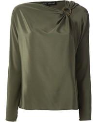 Blusa de manga larga verde oliva de Ralph Lauren